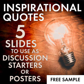 FREE Inspirational Quotes Motivational Posters Decor Secondary Classrooms 6 12