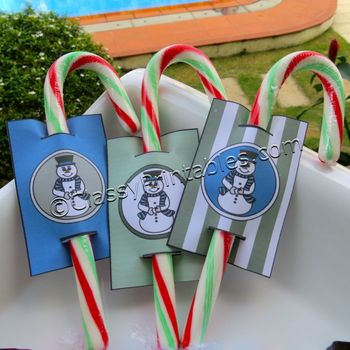FREE Instant Download Winter Theme Straw/Candy Cane toppers