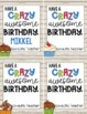 FREE Instant, Editable Student Birthday Gift Tags!