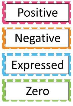 FREE Integers Word Wall - 20 Words