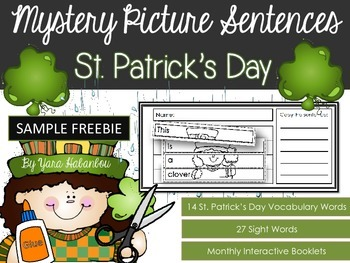 FREE Interactive Activity Booklets {Mystery Picture Sentences St. Patrick's Day}