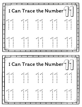 FREE Interactive Counting Book for the Number 11