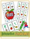 "FREE Interactive Phonics Segmenting Flashcards (CVC) ""Mystery Words"""