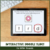 Interactive Letter Sound Activity via Google Slides™ & Boom Cards