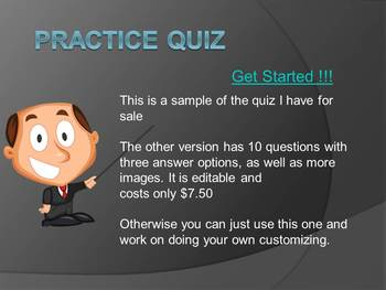 FREE Interactive PPT Quiz w/ visual basic