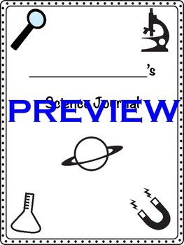 Interactive Science Journal Cover and Table of Contents page