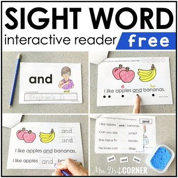 FREE Interactive Sight Word Reader | FREE Sight Word Book