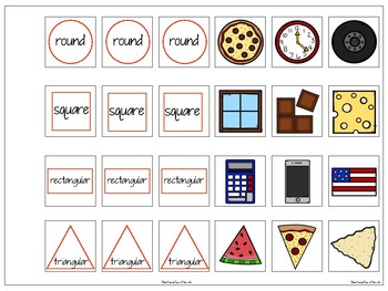 FREE Interactive Vocabulary Expansion: What Do You See? (Shape + Object)
