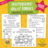 FREE International Day of Families Kindness Coloring Pages - US Letter