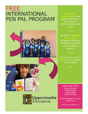 FREE International Pen Pal Program