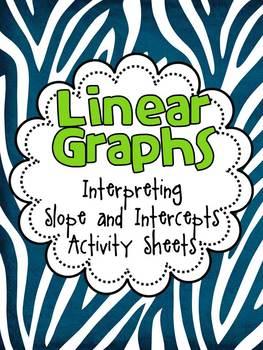 FREE Interpret Slope and Intercepts of Linear Graphs Activ