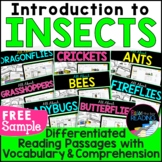 FREE Intro to Insects Differentiated Reading Comprehension