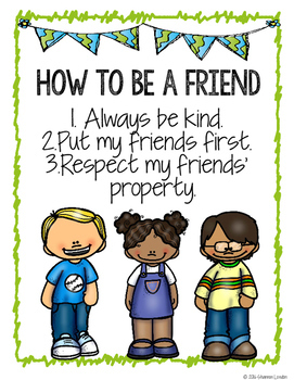 Introducing Myself and Friendship Pack Posters and Activities