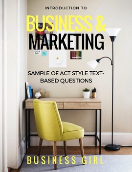 FREE Introduction to Business and Marketing ACT Style Text-Based Questions