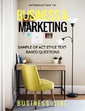 FREE Introduction to Business and Marketing Text-Based Questions
