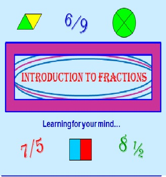 FREE Introduction to Fractions PowerPoint PREVIEW