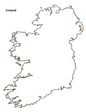 FREE - Ireland Map Outline