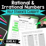 8.NS.A.1 Irrational and Rational Numbers Vocabulary