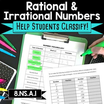 Irrational and Rational Numbers Vocabulary