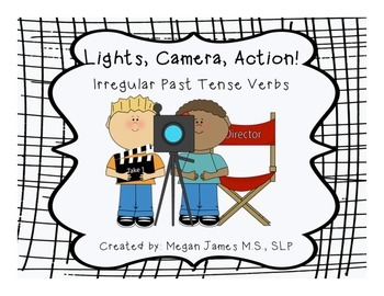 FREE: Lights, Camera, Action! Irregular Past Tense Verbs - Set of 18 Cards