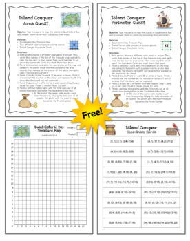 photo about Area and Perimeter Printable Games named Island Overcome Nearby and Perimeter Sport (No cost)