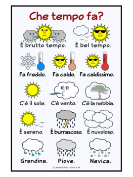 FREE Italian Weather Posters or Handouts