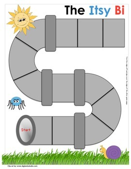graphic regarding Itsy Bitsy Spider Printable known as Itsy Bitsy Spider Concept Fixed -Kindergarten