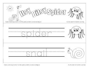 Itsy Bitsy Spider Theme Set -Kindergarten