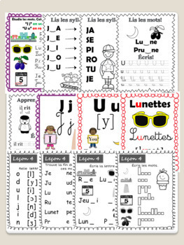 FREE-J'apprends à lire (10 plans = 30 leçons) French Phonics, Reading / Lecture