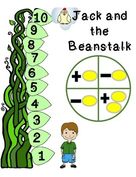 FREE Jack and the Beanstalk Board Game - Add and Subtract