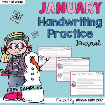 FREE January Handwriting Practice Journal