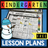 FREE January Lesson Plans for Kindergarten - Curriculum Ma
