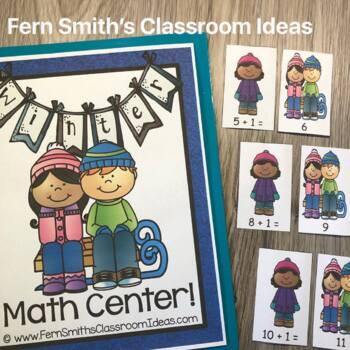 Winter Math Center Addition Plus One Freebie