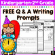 FREE January Writing Prompts for Kindergarten to Second Grade