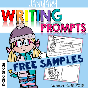 FREE January Writing and Picture Prompts