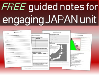 FREE! Japan Unit Structured Notes (4 pages)