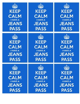FREE Jeans Day Coupon