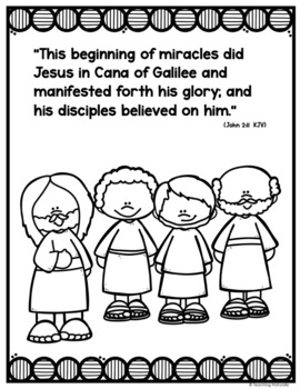 Jesus Turns Water into Wine Coloring Pages | 350x270