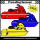 FREE Jet Ski Watercraft Clipart, Beach Theme SPS
