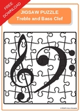 FREE Jigsaw Puzzle Treble and Bass Clef