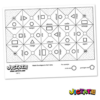 FREE Jigtate Printables - 2D Shapes Puzzle Sheets (KMP13)