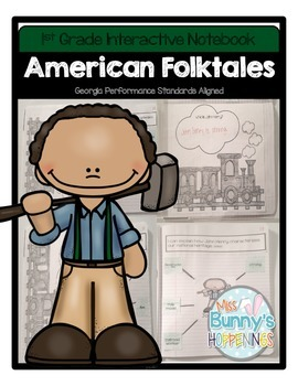 FREE American Folktales Interactive Notebook (1st Grade)