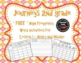 Journeys 2nd Grade High Frequency Words FREE Activities fo