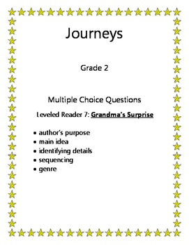 FREE! Journeys: Leveled Book #7 Grandma's Surprise