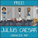 FREE Julius Caesar Character Map Worksheet