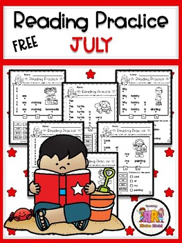 FREE July Reading Practice