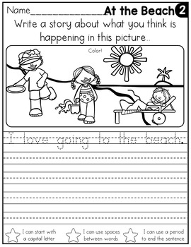 FREE July Writing Prompts for Kindergarten to Second Grade