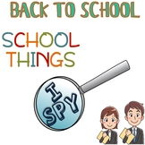 FREE - June 9 - I SPY - School supplies - BACK TO SCHOOL