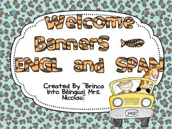 FREE Jungle Theme Welcome Banner SPANISH & ENGLISH