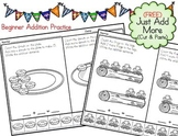 Addition Picture Problems - Just Add More - Cut and Paste Frog and Donuts (FREE)